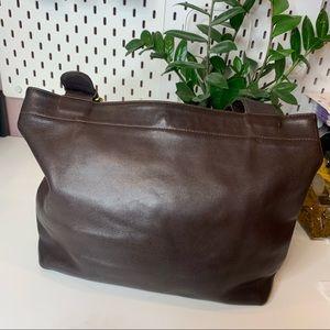 Coach vintage chocolate brown large tote bag